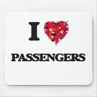 Amo a pasajeros tapetes de ratón