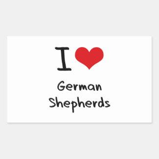Amo a pastores alemanes rectangular altavoz