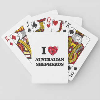 Amo a pastores australianos baraja de cartas