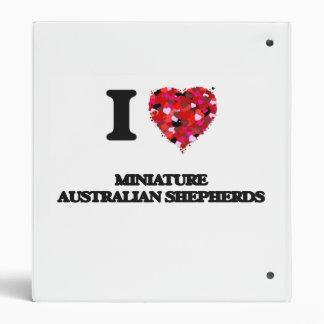 "Amo a pastores australianos miniatura carpeta 1"""