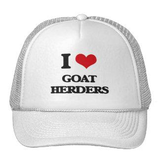 Amo a pastores de la cabra gorras