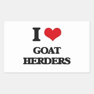 Amo a pastores de la cabra rectangular altavoz