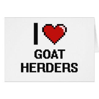 Amo a pastores de la cabra tarjeta pequeña