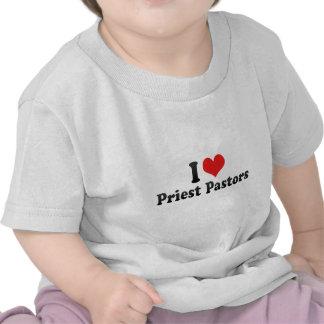 Amo a pastores del sacerdote camisetas