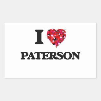 Amo a Paterson New Jersey Pegatina Rectangular