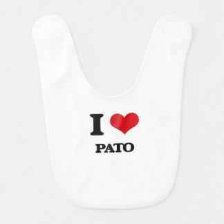 Amo a Pato Baberos