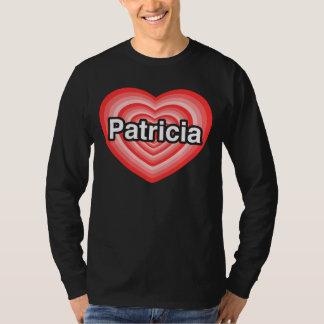 Amo a Patricia. Te amo Patricia. Corazón Playera
