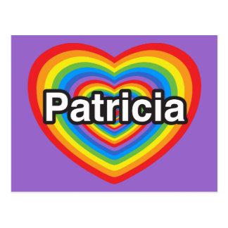 Amo a Patricia. Te amo Patricia. Corazón Postal