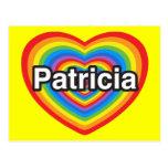 Amo a Patricia. Te amo Patricia. Corazón Tarjeta Postal