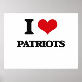 Amo a patriotas impresiones