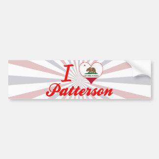 Amo a Patterson California Pegatina De Parachoque