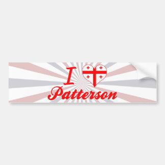 Amo a Patterson Georgia Pegatina De Parachoque