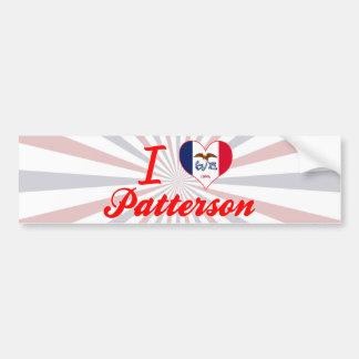 Amo a Patterson Iowa Etiqueta De Parachoque