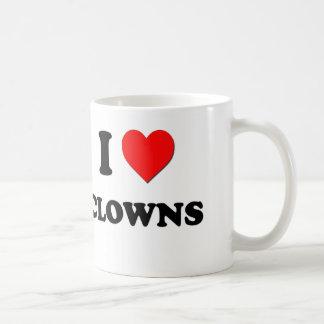 Amo a payasos taza
