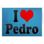 Amo a Pedro Felicitacion