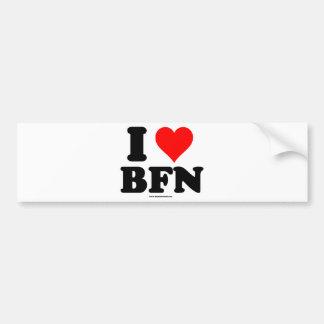 Amo a pegatinas para el parachoques de BFN Pegatina Para Auto