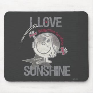 Amo a pequeña Srta. Sunshine Alfombrillas De Ratón