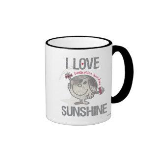 Amo a pequeña Srta. Sunshine Taza De Dos Colores