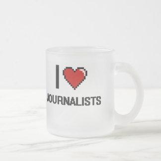Amo a periodistas taza cristal mate