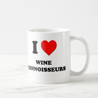 Amo a peritos del vino taza básica blanca