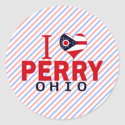 Amo a Perry, Ohio Pegatina Redonda
