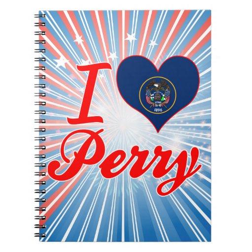 Amo a Perry, Utah Libro De Apuntes Con Espiral