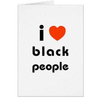 Amo a personas negras felicitación
