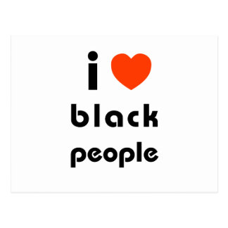 Amo a personas negras postales
