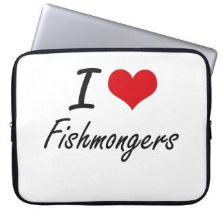 Amo a pescaderos mangas computadora