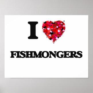 Amo a pescaderos póster