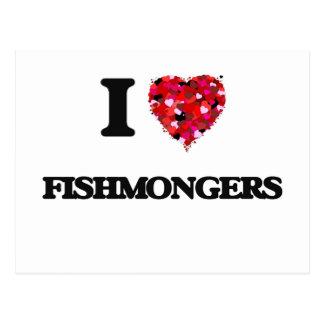 Amo a pescaderos tarjetas postales