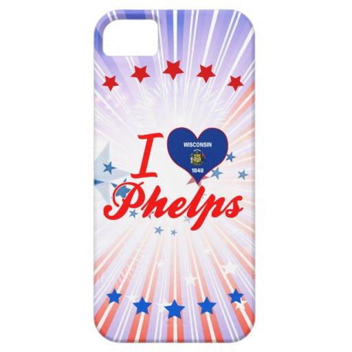 Amo a Phelps, Wisconsin iPhone 5 Case-Mate Cárcasas