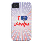 Amo a Phelps, Wisconsin iPhone 4 Protectores