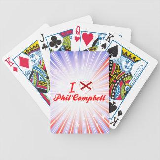 Amo a Phil Campbell, Alabama Baraja Cartas De Poker