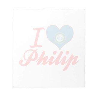 Amo a Philip Dakota del Sur Blocs De Papel
