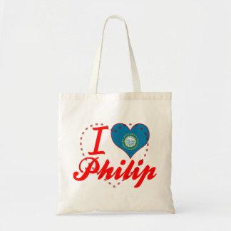 Amo a Philip Dakota del Sur Bolsas De Mano