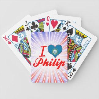 Amo a Philip Dakota del Sur Baraja De Cartas