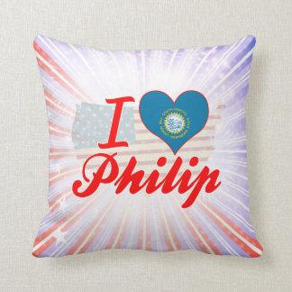Amo a Philip Dakota del Sur Cojines