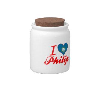 Amo a Philip Dakota del Sur Jarra Para Caramelo