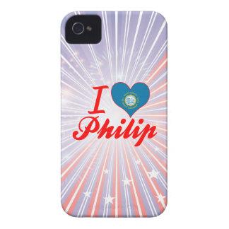 Amo a Philip Dakota del Sur Case-Mate iPhone 4 Funda