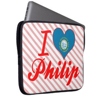 Amo a Philip Dakota del Sur Fundas Portátiles
