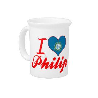 Amo a Philip Dakota del Sur Jarrones