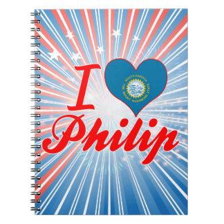 Amo a Philip Dakota del Sur Cuadernos
