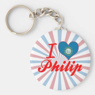 Amo a Philip Dakota del Sur Llavero Personalizado