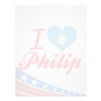 Amo a Philip Dakota del Sur Membretes Personalizados