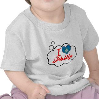 Amo a Philip Dakota del Sur Camiseta