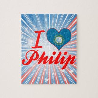 Amo a Philip Dakota del Sur Rompecabeza Con Fotos