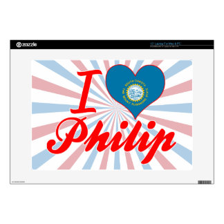 Amo a Philip Dakota del Sur Skins Para Portátiles
