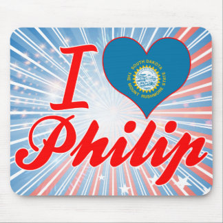 Amo a Philip Dakota del Sur Alfombrillas De Raton