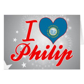 Amo a Philip Dakota del Sur Felicitación